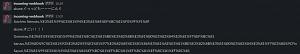 Slackのメッセージが文字化けする